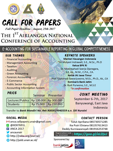 The 1st Airlangga National Conference of Accounting (1st ANCA)